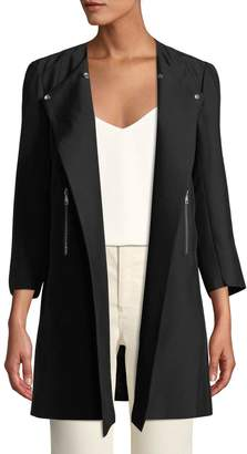 Lafayette 148 New York Shelby Asymmetric-Zip Jacket