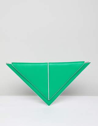 Asos Design DESIGN triangle clutch bag