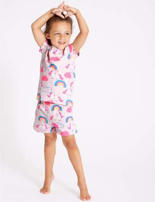 Marks and Spencer Cotton Short Pyjamas with Stretch (1-7 Years)