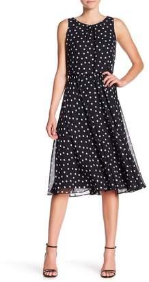 Nine West Polka Dot Fit & Flare Dress