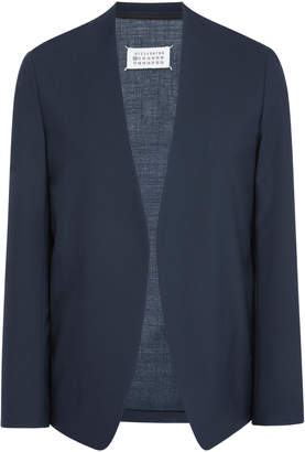 Maison Margiela Two-Ply Collarless Wool Blazer