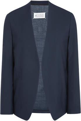Maison Margiela Two-Ply Collarless Wool Blazer