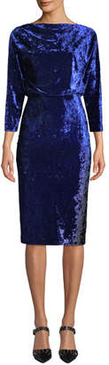 Badgley Mischka Blouson Dress in Ombre Velvet