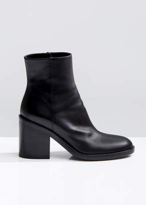 Ann Demeulemeester Stacked Heeled Ankle Boots