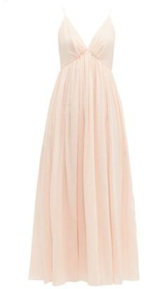 Loup Charmant Adelaide Cotton Midi Dress - Womens - Light Pink