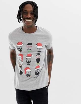 Brave Soul Holidays Beard T-Shirt