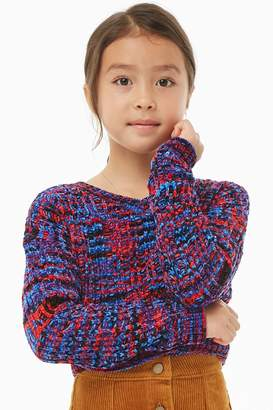 Forever 21 Girls Colorful Chenille Sweater (Kids)