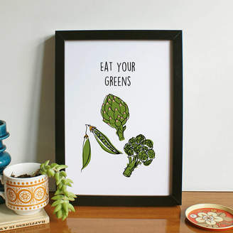 KitchenArt Lucy Wilkins 'Eat Your Greens' Print