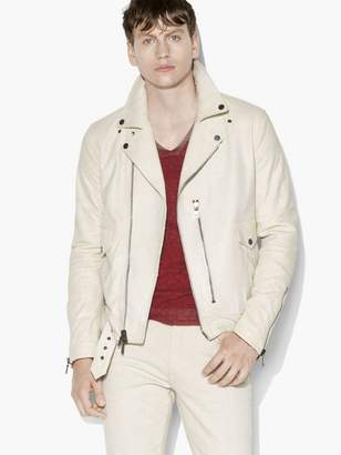 John Varvatos Antique-White Biker Jacket
