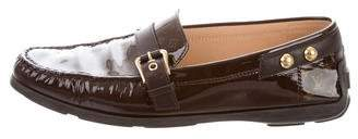 Louis Vuitton Patent Leather Monogram Loafers