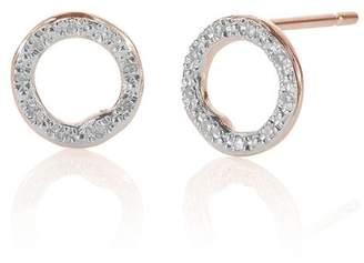 Monica Vinader RP Riva Diamond Circle Stud earrings
