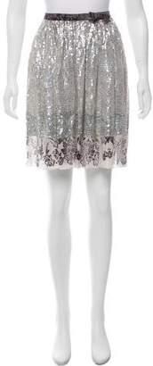 Miu Miu Embellished Knee-Length Skirt