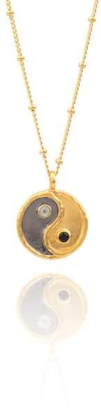 Styleserver DE Satya Halskette Sacred Yin Yang mit Schwarzem Spinell und weißem Topaz