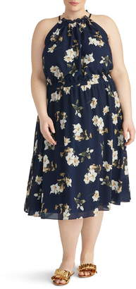 Rachel Roy Collection Cinch Floral Midi Dress