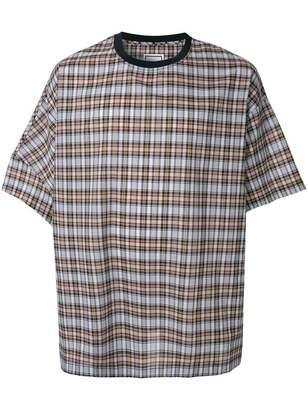 Wooyoungmi oversized check T-shirt