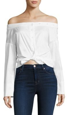 VETTA Reversible Off-The-Shoulder Top $175 thestylecure.com