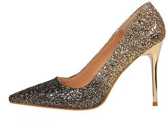370c00893 Themost Womens Glitter Sequins High Heels Closed Pointy Toe Stiletto  Evening Party Pumps Shoes Multi Color