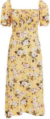 Faithfull The Brand Majorelle Floral Smocked Dress