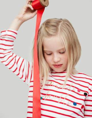 Joules PINK STRIPE TREE Harbour luxe Jersey Top 3-12yr Size 9yr-10yr