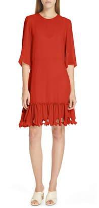 See by Chloe Ruffle Hem Shift Dress