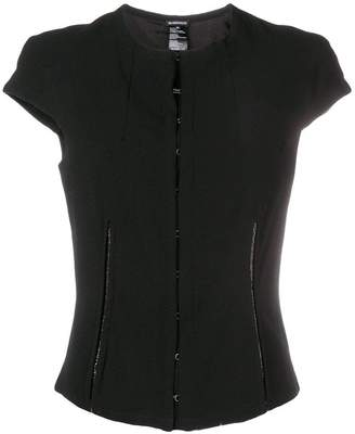Ann Demeulemeester structured front clasp top