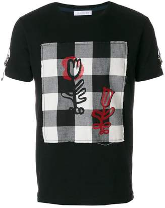 J.W.Anderson checked panel T-shirt