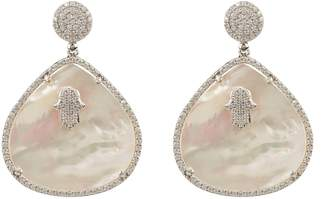 Mother of Pearl Latelita London - Hamsa White Teardrop Earring