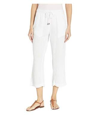 True Grit Dylan by Soft and Light Double Gauze Crop Pants with Pockets