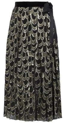 Perseverance Metallic Silk-Blend Midi Skirt