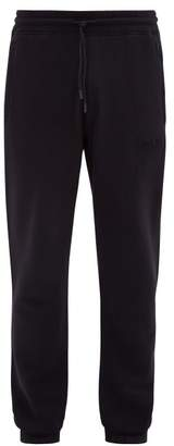 Marcelo Burlon County of Milan Wing Patch Cotton Loop Back Jersey Track Pants - Mens - Black