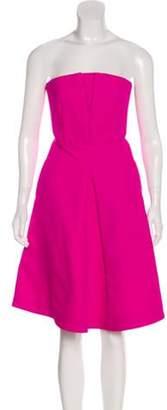 Rochas Strapless A-Line Dress Pink Strapless A-Line Dress