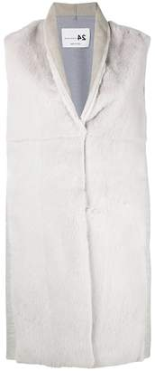 Manzoni 24 concealed fastening sleeveless jacket