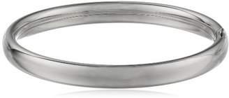 Sterling Silver Polished Hinged Baby Bangle Bracelet