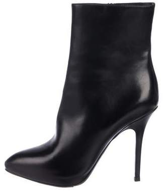 Christian Dior Leather Pointed-Toe Mid-Calf Boots