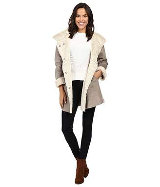 True Grit Dylan by Madison City Faux Sueded Shearling Coat