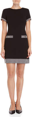 Tommy Hilfiger Black Stretch Crepe Shift Dress