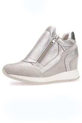 Geox Grey Wedge Sneaker