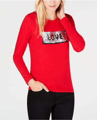 Tommy Hilfiger Sequined Love Tommy T-Shirt