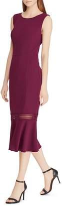 Ralph Lauren Crepe Flounce Dress