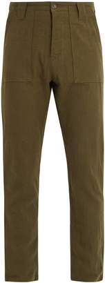 THE LOST EXPLORER Fatigue cotton and wool-blend trousers