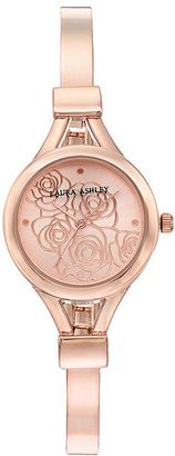 Laura Ashley Women's Floral Half Bangle Watch $345 thestylecure.com