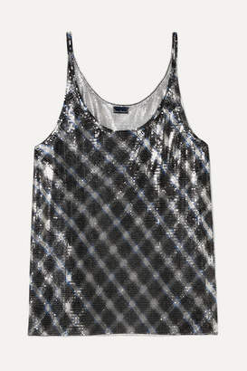 Paco Rabanne Checked Chainmail Camisole - Silver
