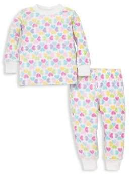 Kissy Kissy Baby's Two-Piece Heart Pajama Top & Pants Set