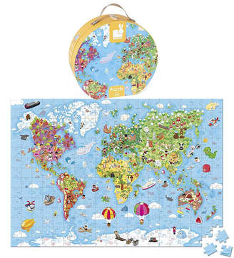 Oskar & Catie Large World Map Puzzle In A Hat Box