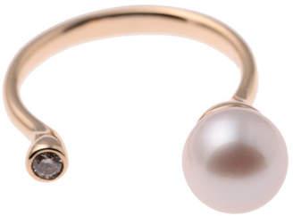 ヒロタカ Pearl Diamond Cuff Ring(Akoya Pearl)