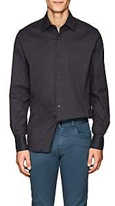 Prada Men's Cotton-Blend Poplin Shirt - Gray