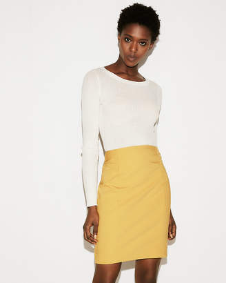 Express High Waisted Pintuck Pencil Skirt
