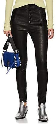 J Brand Women's Natasha Skinny Leather Pants - Black