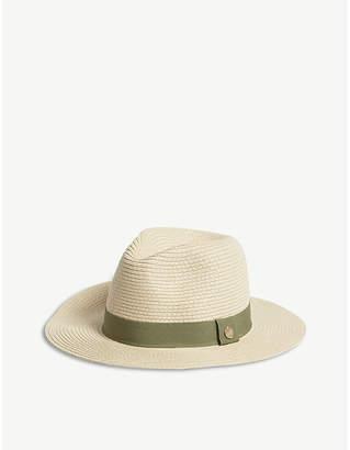 at Selfridges · Melissa Odabash Wide-brim woven fedora hat ae421fdee2e4