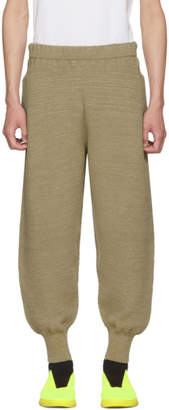 Issey Miyake Homme Plisse Beige WG Knit Trousers
